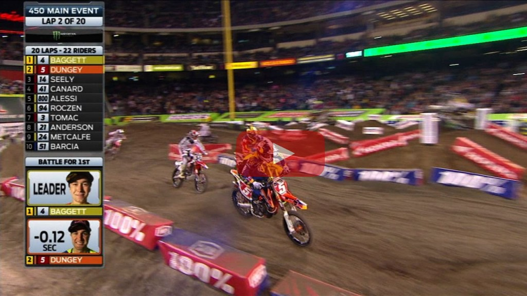 450SX Main Event Highlights – Detroit 2015 Supercross
